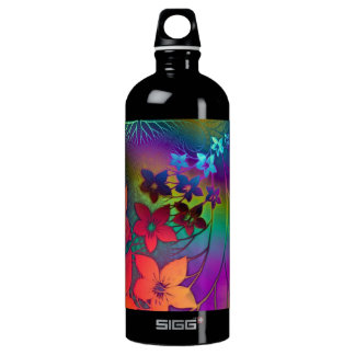 Psychedelic Floral Aluminum Water Bottle