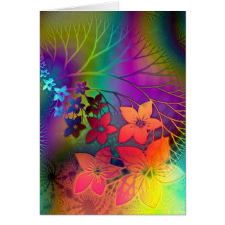 Psychedelic Floral Card