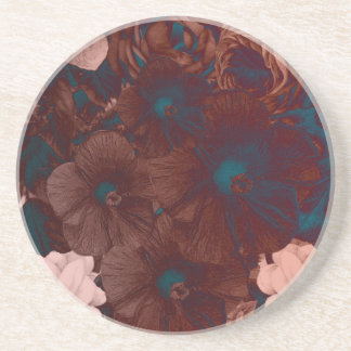 Psychedelic Floral Collage Coaster