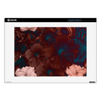 Psychedelic Floral Collage Laptop Decals