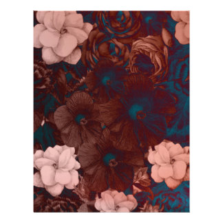 Psychedelic Floral Collage Letterhead
