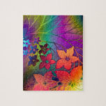 Psychedelic Floral Jigsaw Puzzles