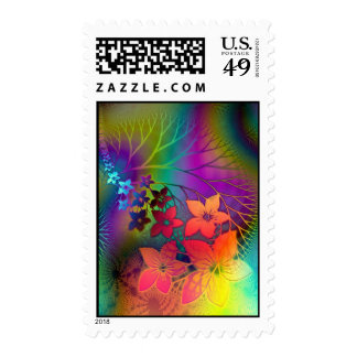 Psychedelic Floral Stamps
