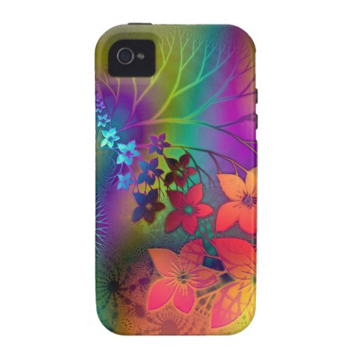 Psychedelic Floral Vibe iPhone 4 Cover
