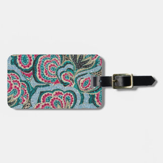 Psychedelic Floral with Glitter Effect Luggage Tag