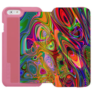 Psychedelic Florescent Abstract Twirls iPhone 6/6s Wallet Case