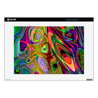 "Psychedelic Florescent Abstract Twirls Skin For 15"" Laptop"