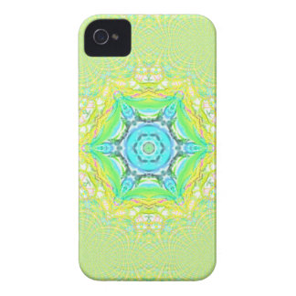Psychedelic  flourescent  funky pattern. Case-Mate iPhone 4 case
