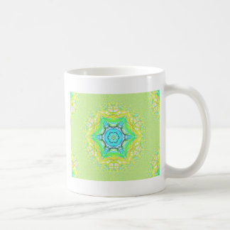 Psychedelic  flourescent  funky pattern. coffee mug