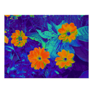 Psychedelic Flower Bed 02 Poster
