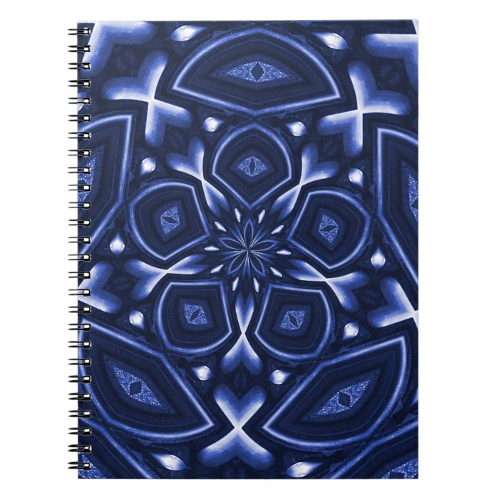 Psychedelic Flower(Blue) Spiral Notebook