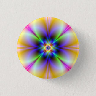 Psychedelic Flower Button