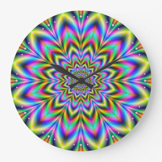 Psychedelic Flower Clock