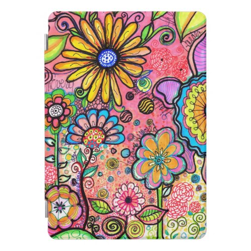 Psychedelic Flower Drawing iPad Pro Cover
