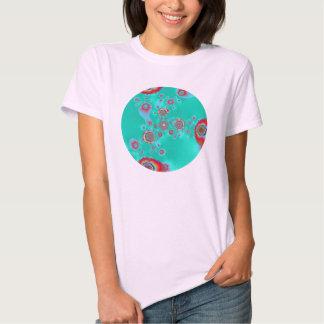 psychedelic flower light blue t-shirt