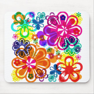 Psychedelic Flower MousePad