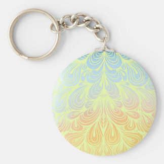 Psychedelic Flower Petals Keychain