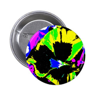 Psychedelic Flower Photo Buttons