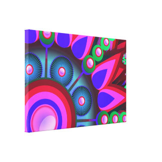Psychedelic Flower Power Art Canvas Print