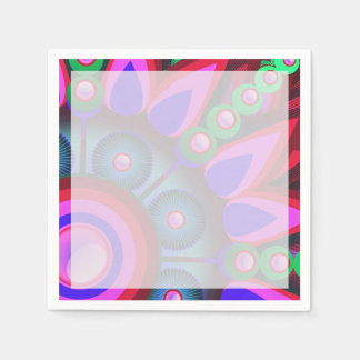 Psychedelic Flower Power Art Paper Napkin
