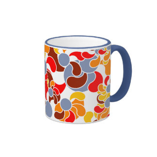 Psychedelic Flower Swirl Ringer Coffee Mug