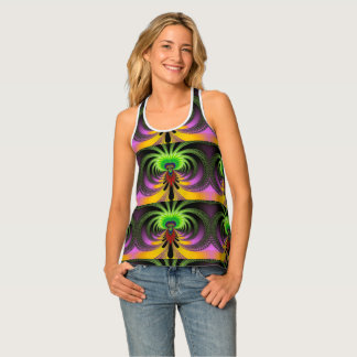 Psychedelic Flower Tank Top