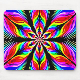 Psychedelic Flower Theory Watercolor Art Mouse Pad