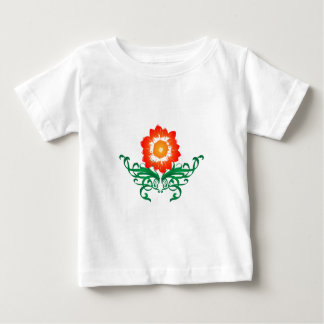 Psychedelic Flower: Vector Drawing: Baby T-Shirt