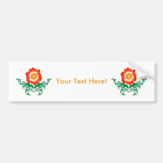 Psychedelic Flower: Vector Drawing: Bumper Sticker
