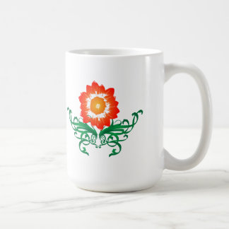 Psychedelic Flower: Vector Drawing: Coffee Mug