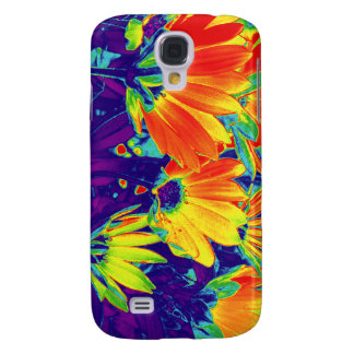Psychedelic Flowers Galaxy S4 Case