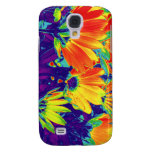 Psychedelic Flowers Galaxy S4 Cases