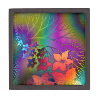 Psychedelic Flowers Jewelry Box