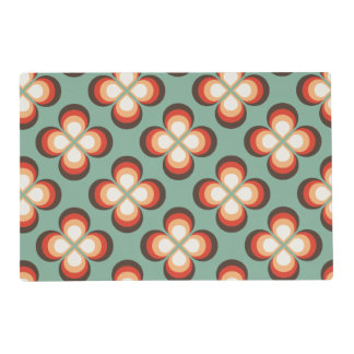 Psychedelic flowers placemat
