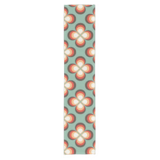 Psychedelic flowers short table runner