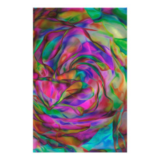 Psychedelic Flowers Stationery