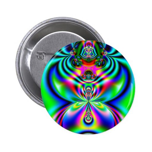 Psychedelic Flutterby Pinback Buttons