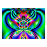 Psychedelic Flutterby Greeting Cards