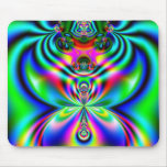 Psychedelic Flutterby Mouse Pads
