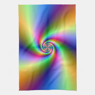 Psychedelic Four Wind Spiral Towel