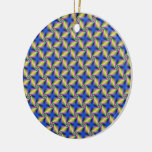 Psychedelic Four Winds Spiral tiled Ornament