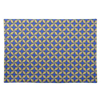Psychedelic Four Winds Spiral tiled Placemats
