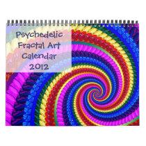 Psychedelic Fractal Art Calendar 2012