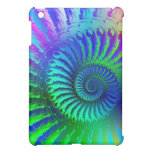 Psychedelic Fractal Blue Pattern iPad Mini Cover