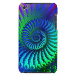 Psychedelic Fractal Blue Pern  iPod Case-Mate Cases