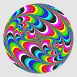 Psychedelic - Fractal Classic Round Sticker