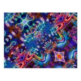 Psychedelic Fractal Design R5K4A Postcard