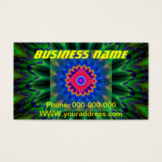 Psychedelic Fractal Flame Red Green Blue Business Card