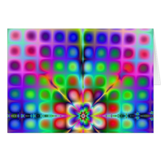 Psychedelic Fractal Greeting Card