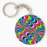 Psychedelic - Fractal Keychain